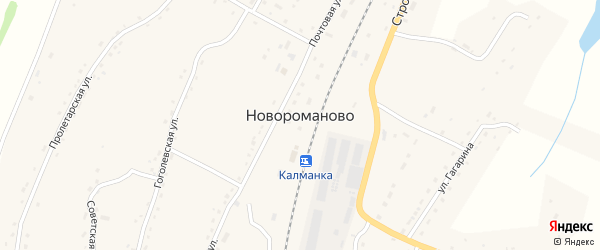 Западная улица на карте села Новороманово с номерами домов