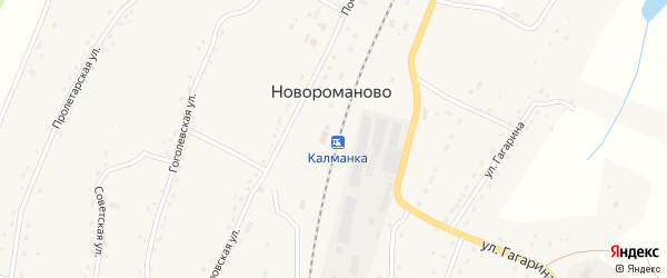 Линейная улица на карте села Новороманово с номерами домов