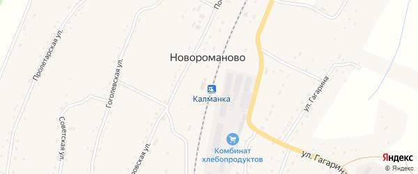 Советская улица на карте села Новороманово с номерами домов
