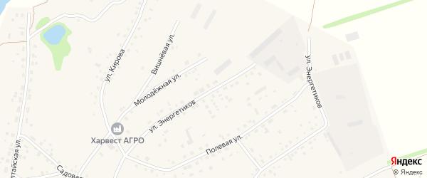 Улица Энергетиков на карте села Шахи с номерами домов