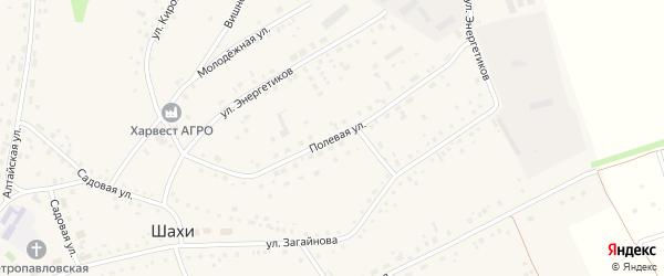 Полевая улица на карте села Шахи с номерами домов