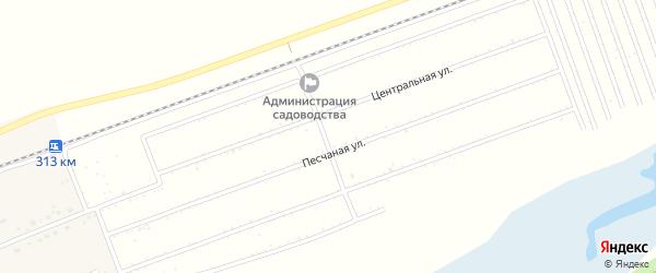 Железнодорожная улица на карте территории сдт Зари с номерами домов