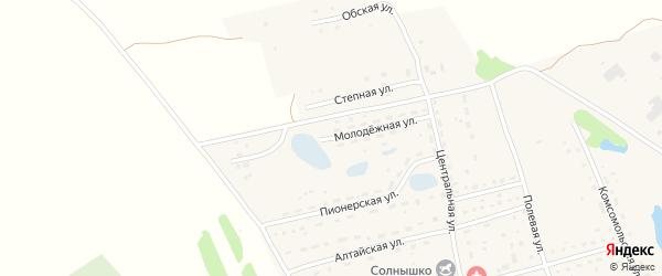 Молодежная улица на карте поселка Алтая с номерами домов