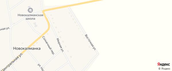 Восточная улица на карте села Новокалманки с номерами домов