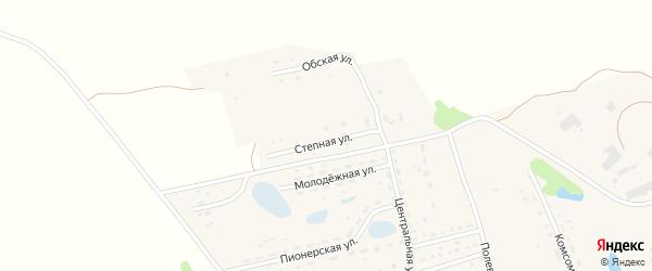 Степная улица на карте поселка Алтая с номерами домов