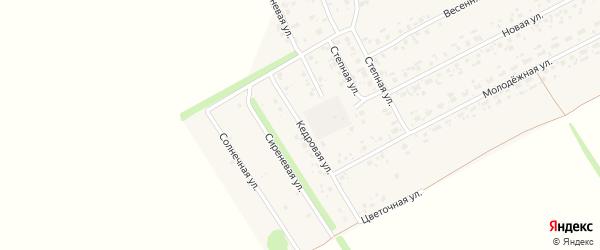 Кедровая улица на карте Комсомольского поселка с номерами домов