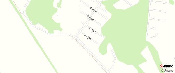 1-я линия на карте территории СДТ Озерного с номерами домов