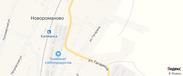 Улица Гагарина на карте села Новороманово с номерами домов