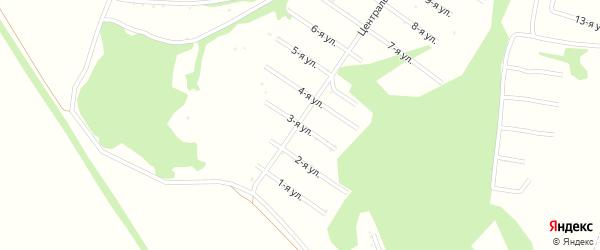 3-я улица на карте территории СДТ Урожайное с номерами домов
