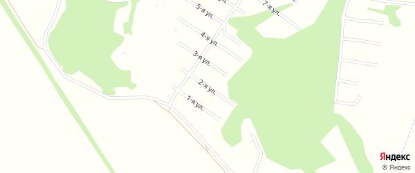 2-я улица на карте территории сдт Нектара с номерами домов