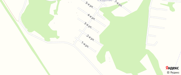 2-я улица на карте территории сдт Раздолья с номерами домов