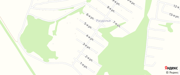 4-я улица на карте территории сдт Нектара с номерами домов