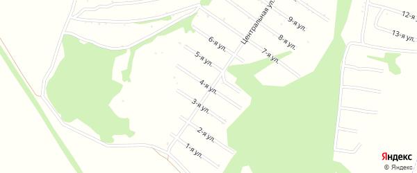 4-я улица на карте территории сдт Раздолья с номерами домов