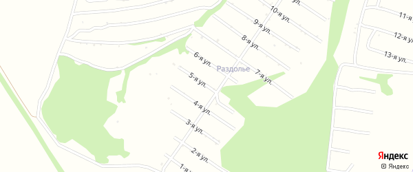 5-я улица на карте территории СДТ Урожайное с номерами домов