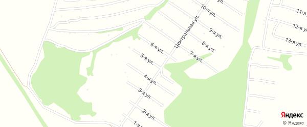 5-я улица на карте территории сдт Нектара с номерами домов