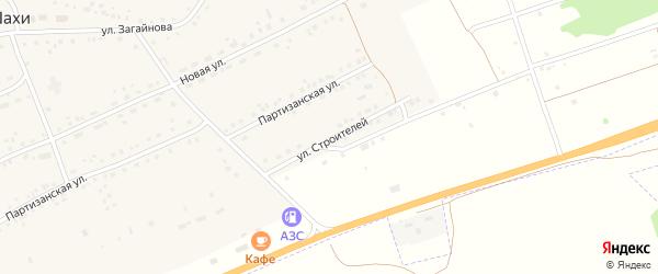 Улица Строителей на карте села Шахи с номерами домов