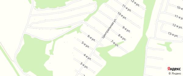 6-я улица на карте территории сдт Лугового с номерами домов