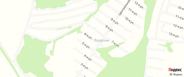 6-я улица на карте территории сдт Раздолья с номерами домов