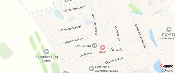 Алтайская улица на карте поселка Алтая с номерами домов