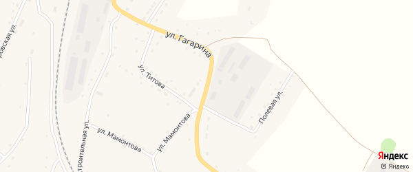 Строительная улица на карте села Новороманово с номерами домов