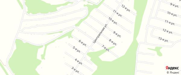 7-я улица на карте территории СДТ Урожайное с номерами домов