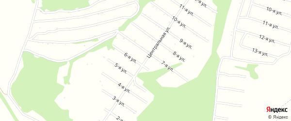 5-я улица на карте территории сдт Раздолья с номерами домов
