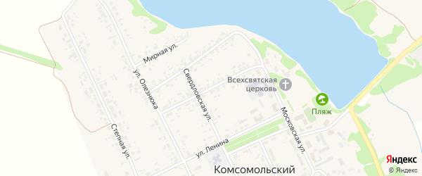 Алтайская улица на карте Комсомольского поселка с номерами домов