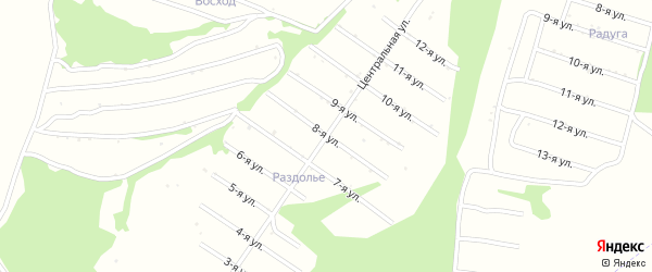 8-я улица на карте территории сдт Лугового с номерами домов