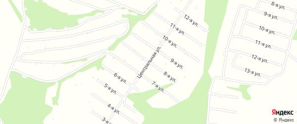 8-я улица на карте территории сдт Раздолья с номерами домов