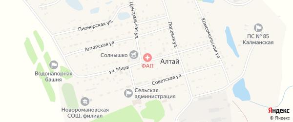 Улица Мира на карте поселка Алтая с номерами домов