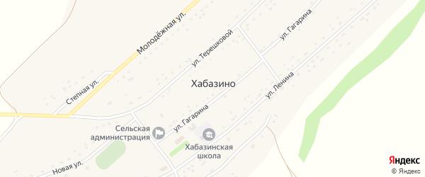 Новая улица на карте села Хабазино с номерами домов
