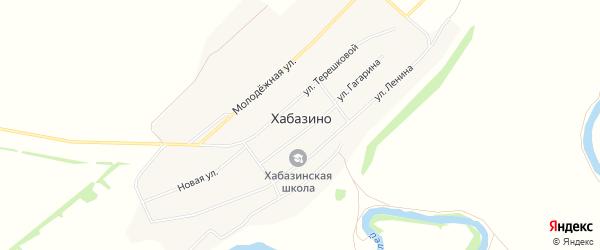 Карта села Хабазино в Алтайском крае с улицами и номерами домов
