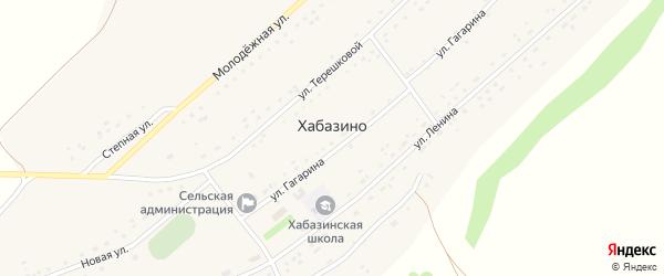 Улица Гагарина на карте села Хабазино с номерами домов