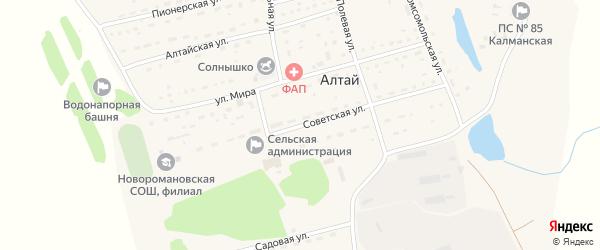 Советская улица на карте поселка Алтая с номерами домов