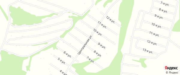 9-я улица на карте территории сдт Раздолья с номерами домов