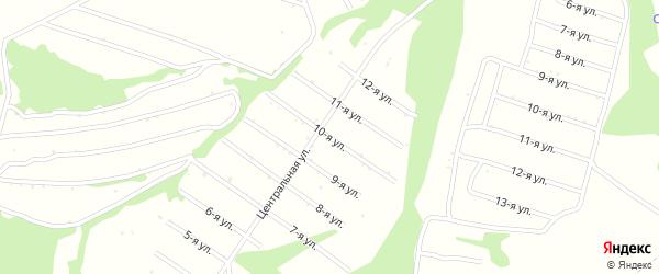 10-я улица на карте территории сдт Раздолья с номерами домов