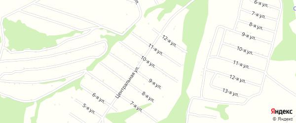 10-я улица на карте территории сдт Лугового с номерами домов