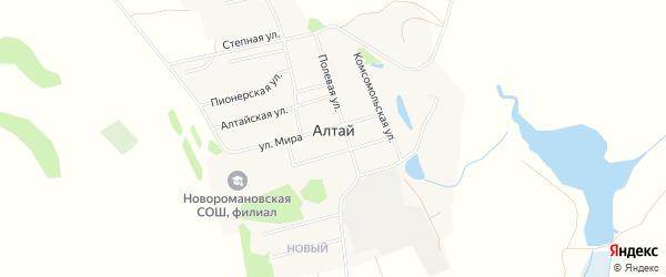 Карта поселка Алтая в Алтайском крае с улицами и номерами домов