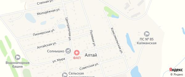 Полевая улица на карте поселка Алтая с номерами домов