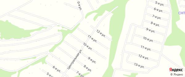 Одиннадцатая улица на карте территории сдт Раздолья с номерами домов