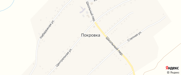 Степная улица на карте села Покровки с номерами домов