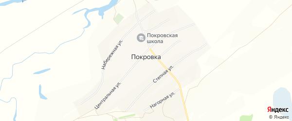Карта села Покровки в Алтайском крае с улицами и номерами домов
