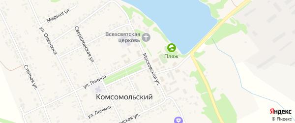 Московская улица на карте Комсомольского поселка с номерами домов
