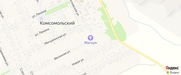 Весенняя улица на карте Комсомольского поселка с номерами домов