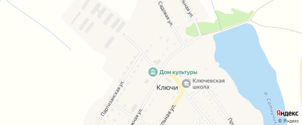 Молодежная улица на карте поселка Ключи с номерами домов