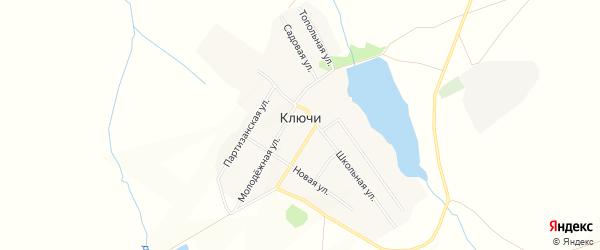 Карта поселка Ключи в Алтайском крае с улицами и номерами домов