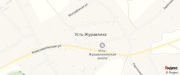 Рабочий переулок на карте села Усть-Журавлихи с номерами домов