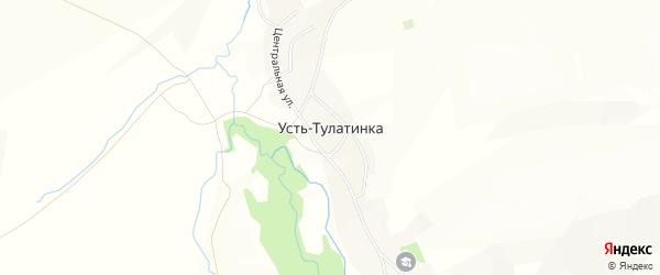 Карта села Усть-Тулатинки в Алтайском крае с улицами и номерами домов