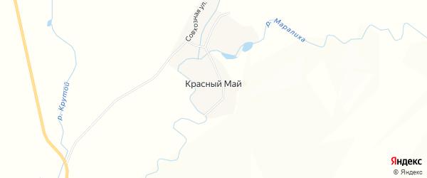 Карта села Красного Мая в Алтайском крае с улицами и номерами домов
