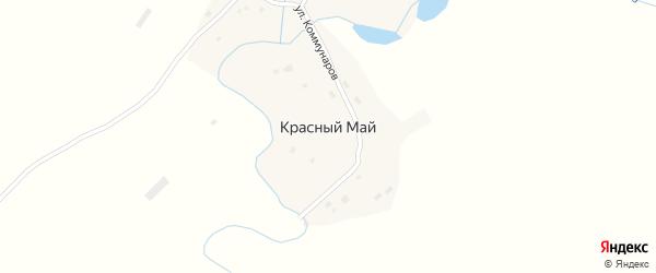 Улица Коммунаров на карте села Красного Мая с номерами домов